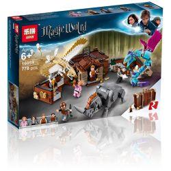 Bela 11009 Lari 11009 LELE 39148 L154 L155 LEPIN 16059 Xếp hình kiểu Lego HARRY POTTER Newt's Case Of Magical Creatures Where Is The Magical Animal Newter's Magic Suitcase Trường Hợp Sinh Vật Kỳ Diệu