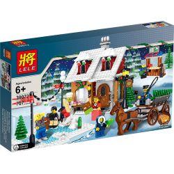LELE 39072 Xếp hình kiểu Lego CREATOR EXPERT Winter Village Bakery Winter Bakery Tiệm Bánh Vào đêm Mùa đông 687 khối