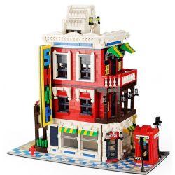 WANGE 6311 Xếp hình kiểu Lego MODULAR BUILDINGS Architecture Corner Store Cửa Hàng Góc Phố 2332 khối