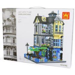 Wange 6310 Xếp hình kiểu LEGO Architecture Garden Coffee House Quán Cafe 2313 khối
