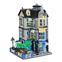 WANGE 6310 Xếp hình kiểu Lego MODULAR BUILDINGS Garden Coffee House Quán Cafe 2313 khối