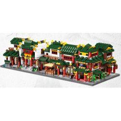 Xingbao XB-01103 (NOT Lego Mini Modular Gristmill、ancestral Hall、butcher's Shop、rice Shop、restaurant、vinegar Shop ) Xếp hình Nhà Xay Xát, Đến Thờ, Hàng Thịt, Hàng Gạo, Quán Ăn, Hàng Giấm lắp được 6 mẫ