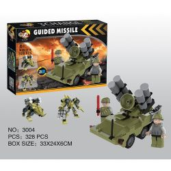 QIZHILE 3004 Xếp hình kiểu Lego MILITARY ARMY Guided Missle, Tank, Fighters, Helicopter, Chariot Máy Bay Chiến đấu, Trực Thăng, Xe Tăng, Tên Lửa Dẫn đường, Xe Bọc Thép 1637 khối