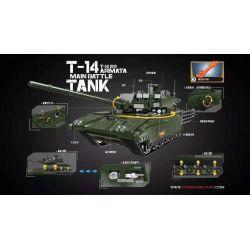 XingBao XB-06031 Xếp hình kiểu LEGO Creator T-14 Armata Main Battle Tank Xe Tăng Chủ Lực Thế Hệ Mới 1588 khối