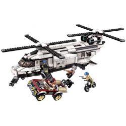 Enlighten 3208 Qman 3208 Xếp hình kiểu Lego ThunderMission Thunder Mission Sky Đánh Chặn Tên Khủng Bố Bằng Trực Thăng Của Quân Đội Liên Hợp Quốc 650 khối