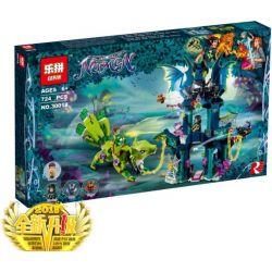 NOT Lego ELVES 41194 Noctura's Tower & The Earth Fox Rescue Elf Nocturna's Tower And Earth Fox Rescue , LEPIN 30018 Xếp hình Tòa Tháp Ma Thuật Của Noctura 646 khối