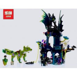 LEPIN 30018 Xếp hình kiểu Lego ELVES Noctura's Tower & The Earth Fox Rescue Elf The Tower Of Knoxula And The Land Rescue Tòa Tháp Ma Thuật Của Noctura 646 khối