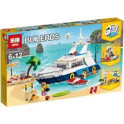 Bela 11053 Lari 11053 LELE 37083 LEPIN 24050 Xếp hình kiểu Lego CREATOR Cruising Adventures Three-in-one Cruise Adventure Cruise Victory Du Thuyền 3 Trong 1 597 khối