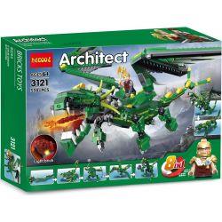 Decool 3121 Jisi 3121 Xếp hình kiểu Lego CREATOR Mythical Creatures Mythology Rồng Xanh Huyền Thoại lắp được 8 mẫu 588 khối