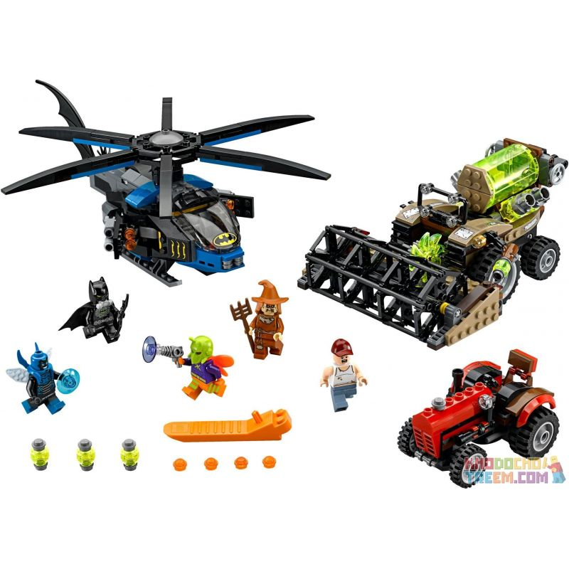 NOT Lego DC COMICS SUPER HEROES 76054 Batman Scarecrow Harvest Of Fear Batman Scarecrow Horror Casting Camp , LEPIN 07042 Xếp hình Cần Dịch 563 khối