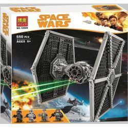 Bela 10900 (NOT Lego Star wars 75211 Imperial Tie Fighter ) Xếp hình Phi Thuyền Tie Fighter 519 khối