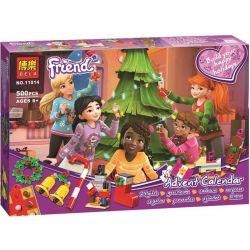 NOT Lego FRIENDS 41353 Friends Advent Calendar Good Friend Good Friend Christmas Countdown Calendar , Bela 11014 Lari 11014 Xếp hình Trang Trí Cây Thông 500 khối