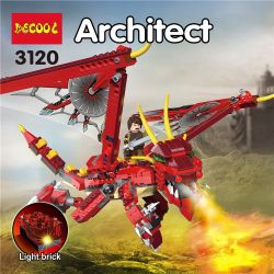 NOT Lego CREATOR 6751 Fiery Legend Hot Legend , Decool 3120 Jisi 3120 Xếp hình Huyền Thoại Rồng Thần Fiery 3 Trong 1 lắp được 3 mẫu 479 khối