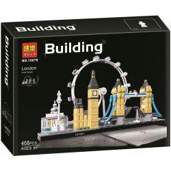 Bela 10678 Lari 10678 GM G·M 85015 Xếp hình kiểu Lego ARCHITECTURE Landmark Building London Skyline Thành Phố London 468 khối