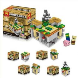 Lele 79047 (NOT Lego Minecraft 21105 The Village ) Xếp hình Thế Giới Vi Mô 466 khối