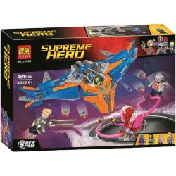 Bela 10748 (NOT Lego Marvel Super Heroes 76081 The Milano Vs. The Abilisk ) Xếp hình Cuộc Chiến Của Tàu Milano Và Abilisk 460 khối