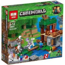 Lepin 18041 Lele 33227 Sheng Yuan 1173 Bela 10989 (NOT Lego Minecraft 21146 The Skeleton Attack ) Xếp hình Khu Vực Của Người Xương 457 khối