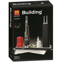 Bela 10677 Lari 10677 Xếp hình kiểu Lego ARCHITECTURE Landmark Building Chicago Skyline Thành Phố Chicago 444 khối
