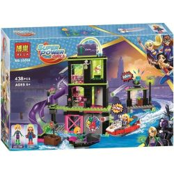 Bela 10690 Lari 10690 Xếp hình kiểu Lego DC SUPER HERO GIRLS Lena Luthor Kryptomite Factory Laina Luke's Wan Factory Xưởng Chế Tạo Của Lena Luthor 432 khối