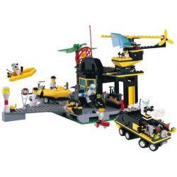 Enlighten 111 Qman 111 Xếp hình kiểu Lego TOWN Emergency Response Center Speedboat Terminal Save Center Trung Tâm Ứng Phó Khẩn Cấp 423 khối