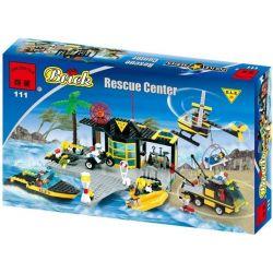 Enlighten 111 (NOT Lego Town Baywatch 6479 Emergency Response Center ) Xếp hình Trung Tâm Ứng Phó Khẩn Cấp 423 khối