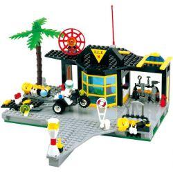 NOT Lego TOWN 6479 Emergency Response Center Speedboat Terminal Save Center , Enlighten 111 Qman 111 Xếp hình Trung Tâm Ứng Phó Khẩn Cấp 423 khối