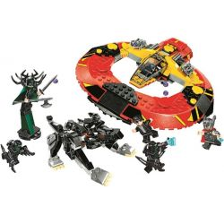 Bela 10747 Lari 10747 Xếp hình kiểu Lego MARVEL SUPER HEROES The Ultimate Battle For Asgard Thunder 3 The Ultimate Battle Of Evil Trận Chiến Cuối Cùng Tại Asgard 400 khối