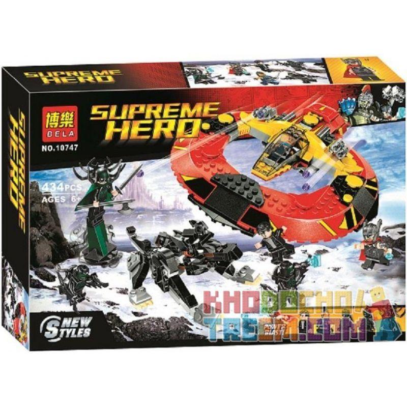NOT Lego MARVEL SUPER HEROES 76084 The Ultimate Battle For Asgard Thunder 3 The Ultimate Battle Of Evil , Bela 10747 Lari 10747 Xếp hình Trận Chiến Cuối Cùng Tại Asgard 400 khối