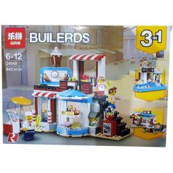 Lepin 24049 Lele 33221 Bela 11052 Xinh 5509 (NOT Lego Creator 31077 Modular Sweet Surprises ) Xếp hình Cửa Hàng Bánh Kẹo lắp được 3 mẫu 396 khối