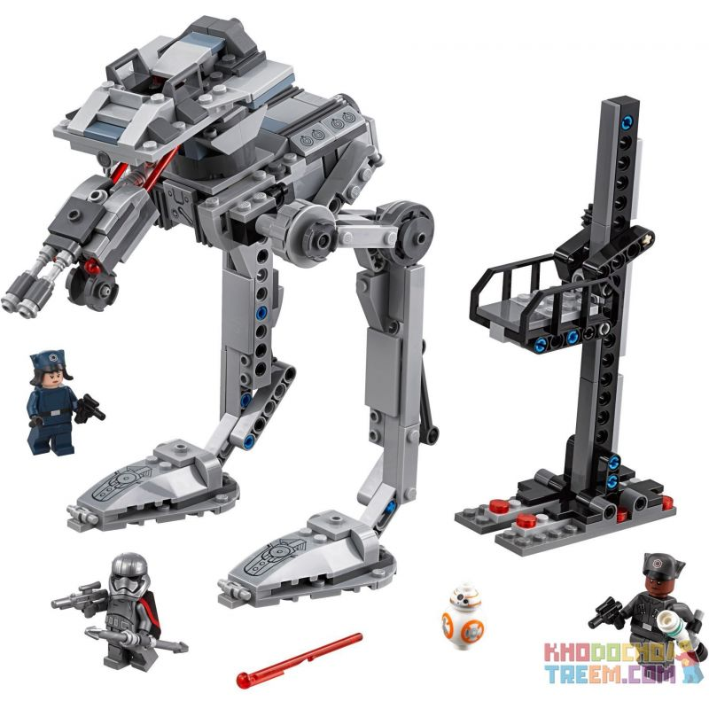 NOT Lego STAR WARS 75201 First Order AT-ST , Bela 10912 Lari 10912 Xếp hình Robot Do Thám AT-ST 370 khối