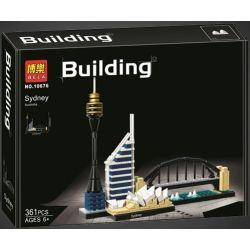 Bela 10676 (NOT Lego Architecture 21032 Architecture:sydney ) Xếp hình Thành Phố Sydney 361 khối