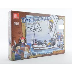 JIE STAR 30004 Xếp hình kiểu Lego PIRATES OF THE CARIBBEAN Hollander Ship Thuyền cướp biển Hà Lan 339 khối