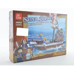 Jie Star 30002 (NOT Lego Pirates of the Caribbean Super Brave ) Xếp hình Thuyền Hải Tặc Nhỏ 167 khối