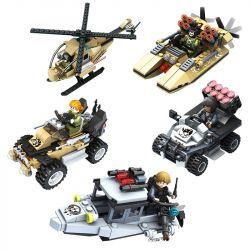 Panlosbrick 635001 635002 635003 635004 635005 (NOT Lego Gun Strike Conversation Attack ) Xếp hình Cuộc Tấn Công Chống Khủng Bố gồm 5 hộp nhỏ 1273 khối