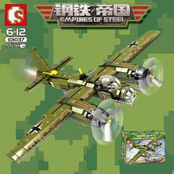 SEMBO 101037 Xếp hình kiểu Lego EMPIRES OF STEEL Empires Of Steel Ju-88 Steel Empire Germany Room 88 Bomber Máy Bay Quân Sự Ju-88 559 khối