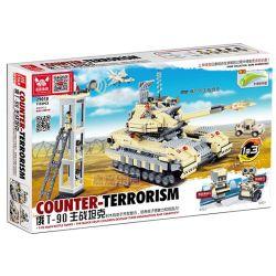 JIE STAR 29018 Xếp hình kiểu Lego MILITARY ARMY Russian T-90 Main Battle Tank Xe tăng Nga T90 1193 khối