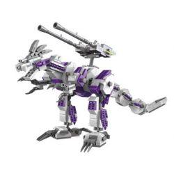Gao Bo Le Gbl KY98112 (NOT Lego Transformers White Geno Saurer, Liger Zero Jager ) Xếp hình 2 Quái Thú Máy gồm 2 hộp nhỏ 1165 khối