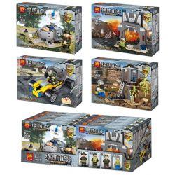 LELE 36028 36028-1 36028-2 36028-3 36028-4 Xếp hình kiểu Lego PUBG BATTLEGROUNDS Battlegrounes Jedi Survived People Small Scene 4 Models Quân Đội Jedi Chống Khủng Bố gồm 4 hộp nhỏ 404 khối