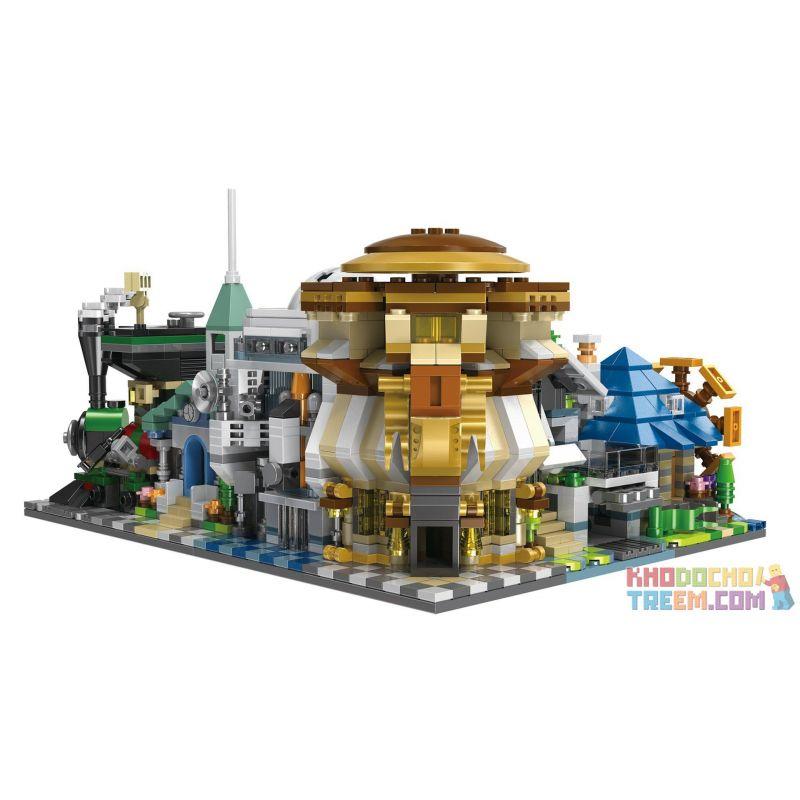 Decool 1120 1121 1122 1123 1124 1125 Jisi 1120 1121 1122 1123 1124 1125 Xếp hình kiểu Lego MINI MODULAR Mini Architecture 6 Các Công Trình Kiến Trúc Của Thành Phố gồm 6 hộp nhỏ 1512 khối