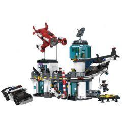 Xingbao XB-02106 (NOT Lego Justice Guard Justice Guard ) Xếp hình Tên Tội Phạm Chạy Trốn Khỏi Trụ Sở Cảnh Sát 1480 khối