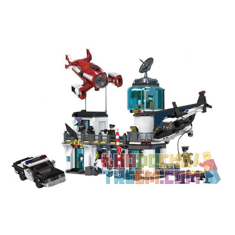 XINGBAO XB-02106 02106 XB02106 Xếp hình kiểu Lego JUSTICE GUARD Earth Justice Alliance Escape From The Police Station Tên Tội Phạm Chạy Trốn Khỏi Trụ Sở Cảnh Sát 1480 khối
