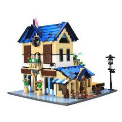WANGE DR.LUCK 5311 Xếp hình kiểu Lego MINI MODULAR French Country Lodge French Country House Nhà Nghỉ Kiểu Pháp 1298 khối
