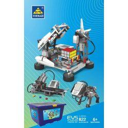 Kazi KJ30010A 30010A Xếp hình kiểu Lego TECHNIC EV5 Small Particle Robot Suit Bộ Lắp Ghép Robocon Có Động Cơ EV5 822 khối có động cơ pin
