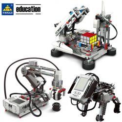 Kazi KJ30010A (NOT Lego Mindstorms EV3 Wedo 2.0 STEAM Ev5 ) Xếp hình Bộ Lắp Ghép Robocon Có Động Cơ Ev5 822 khối