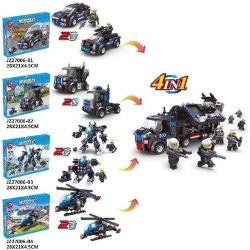 Le Di Pin K 27006 JZ27006 (NOT Lego SWAT Special Force 8 In 4 In 1 Swat Van ) Xếp hình 8 Trong 4 Trong 1 Xe Dã Chiến Swat gồm 13 hộp nhỏ 673 khối
