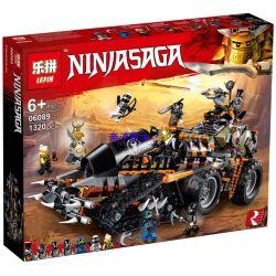 Bela 10939 Lari 10939 BLANK 61022 80013 LELE 31153 LEPIN 06089 Xếp hình kiểu THE LEGO NINJAGO MOVIE Dieselnaut Heavy-duty Tunnel Truck Pháo Đài Di Động 1179 khối
