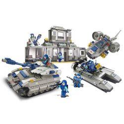 SLUBAN M38-B0211 B0211 0211 M38B0211 38-B0211 Xếp hình kiểu Lego MILITARY ARMY Special Forces Special Police Headquarters Trụ Sở Lực Lượng Cảnh Sát đặc Biệt 822 khối