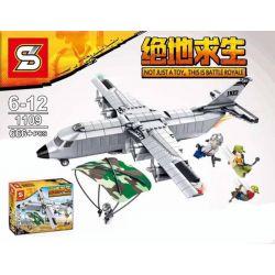 Sheng Yuan 1109 (NOT Lego PUBG Battlegrounds Crusader Transport Aircraft The Jedi C-130 ) Xếp hình Máy Bay Vận Tải Quâm Sự Jedi C-130 666 khối