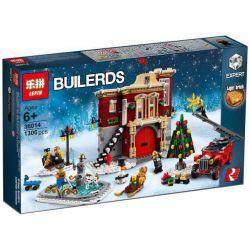 Bela 11041 Lari 11041 LEPIN 36014 Xếp hình kiểu Lego CREATOR EXPERT Winter Village Fire Station Winter Fire Station Trạm Cứu Hỏa Của Ngôi Làng Mùa Giáng Sinh 1166 khối