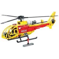 Winner 7063 Xếp hình kiểu Lego TECHNIC The Gazelle Helicopter Premium Helicopter 1 20 Trực Thăng Vàng 663 khối